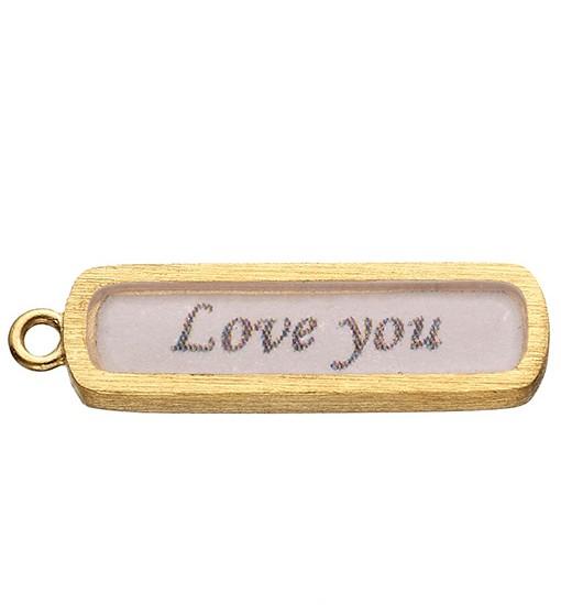 Love You vintage charm