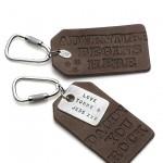 Men's Leather Dog Tag Keyring