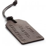 Luxe Leather & Silver Luggage Tags