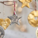 Silver Personalised Star Christmas Decoration