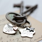 Personalised charm keyring
