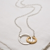 entwined hugs necklace