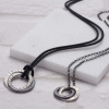 Men's inifinity halo necklace