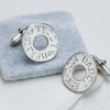 Personalised halo cufflinks 2