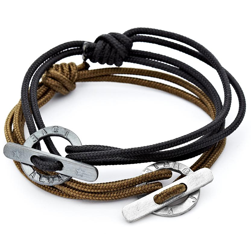 Men's rope bracelet personalised