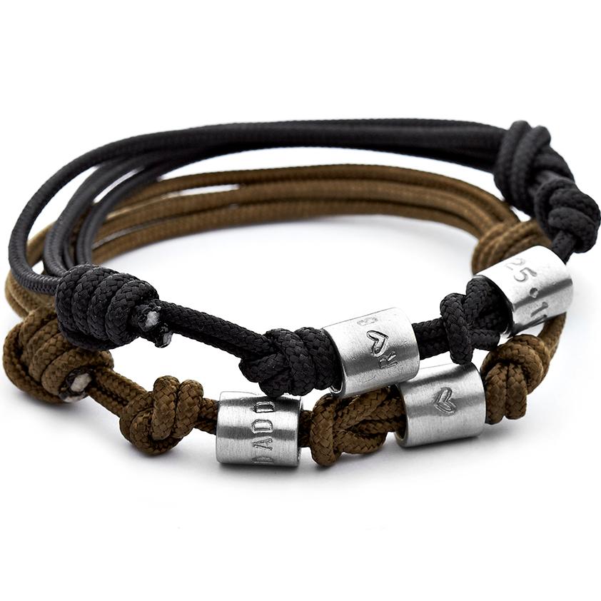 men's personalised rope bracelet