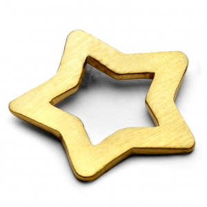 large gold star charm