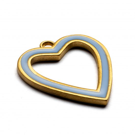 large enamelled heart