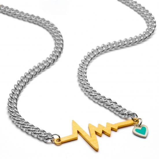 heatbeat necklace chunky gold