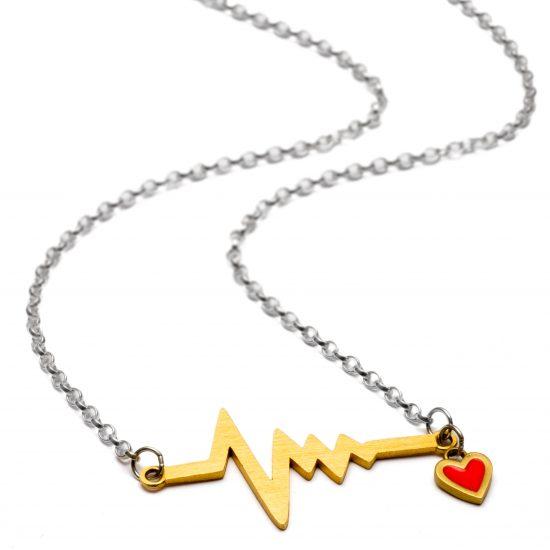 heatbeat necklace gold